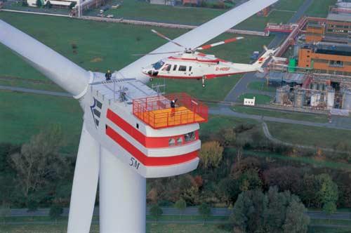 REpower Windenergieanlage 5M mit 5 Megawatt Leistung